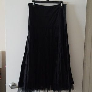 Dresses & Skirts - XL Tiered Circle Skirt w Tulle Trim